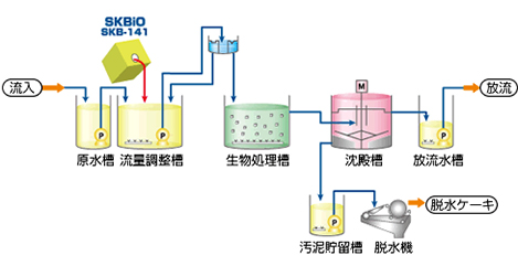 SKBiO (排水処理用微生物製剤)の製品説明