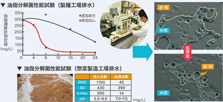 ③ 食品工場における油脂分解菌活用による減容化事例