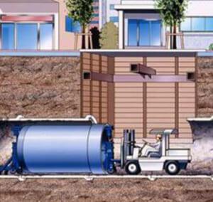エスロンリフトイン工法-下水道(強プラ管さや管工法)